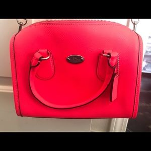 Coach Neon Pink Crossbody Purse